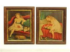 Pair Framed Chromolithographs