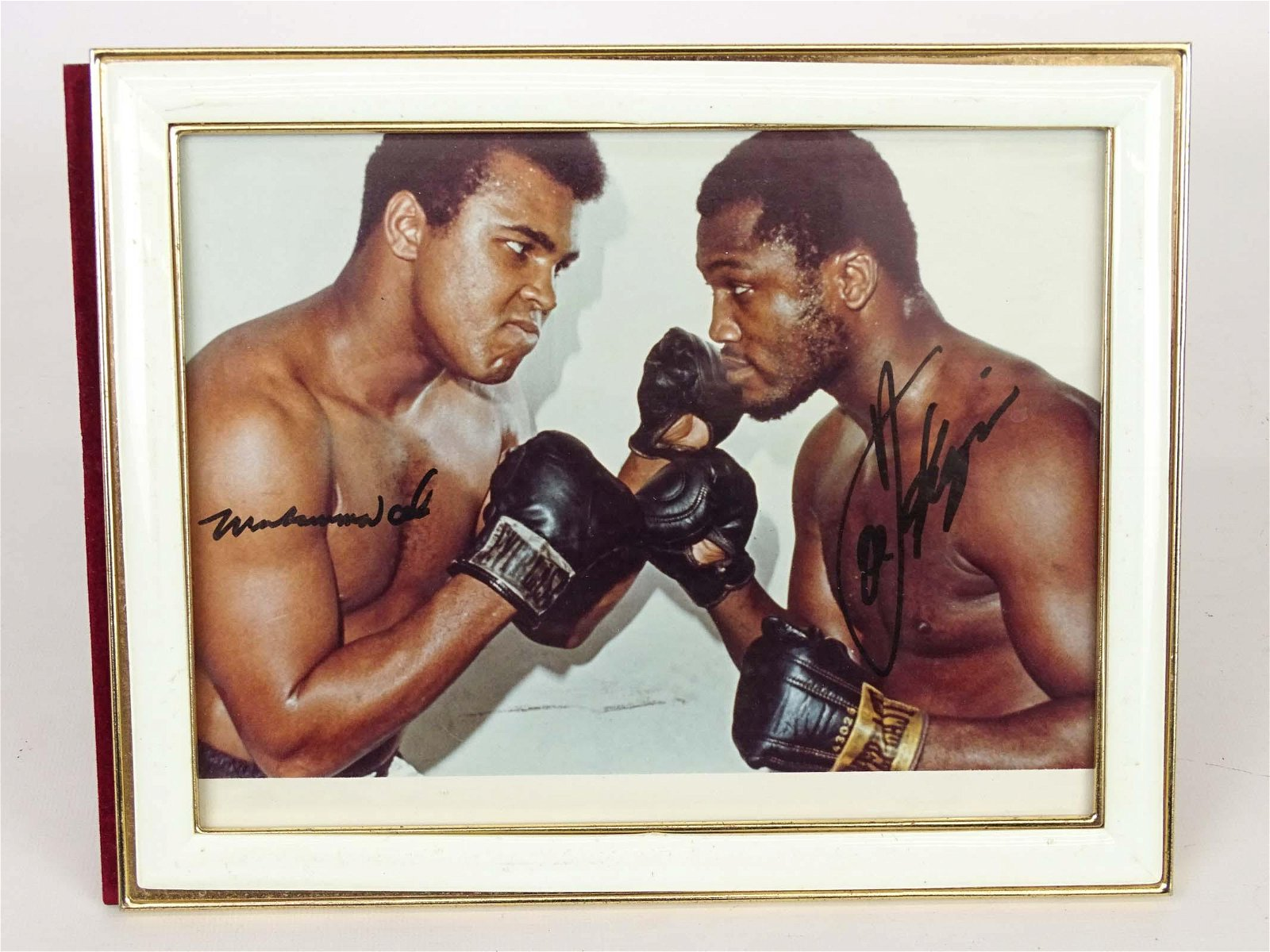 Muhammad Ali & Joe Frazier Autograph