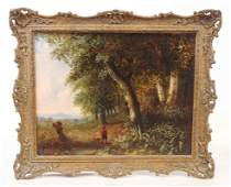 Continental School Landscape with Figure