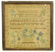 19th c. Needlework Sampler