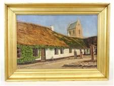 Continental School, 19th c. Village Scene