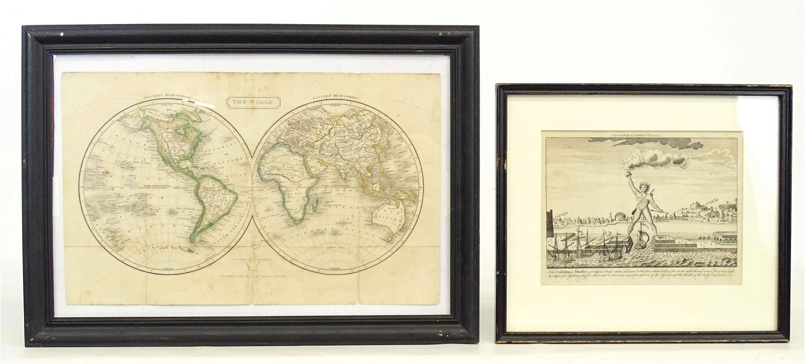 Antique View and Map