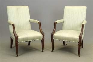 Pair of Hepplewhite Library Chairs