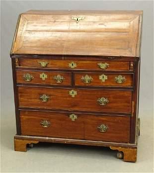 George I Mahogany Slant Lid Desk