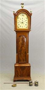 18th c. Mass. Mahogany Grandfather Clock