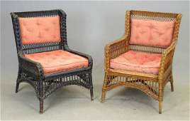 Pair of Early Wicker Chairs