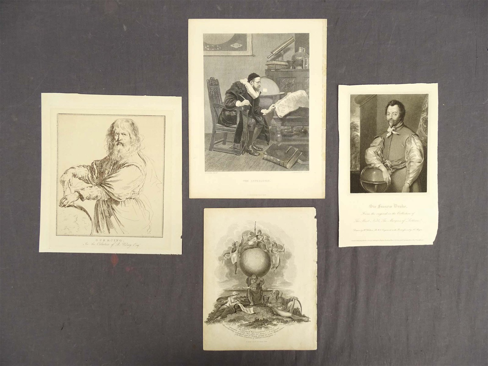 Early Prints, Man with World Globe (4)