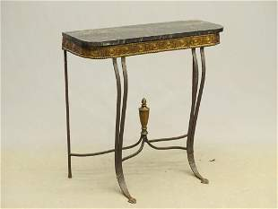 Slate Top Console Table