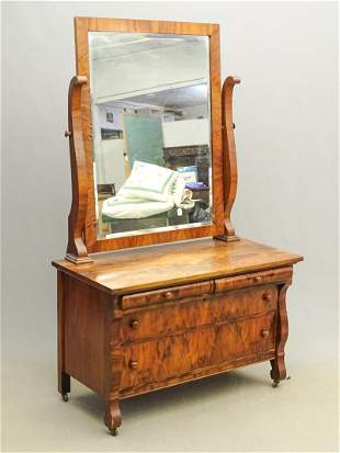 Empire Style Chest with Mirror