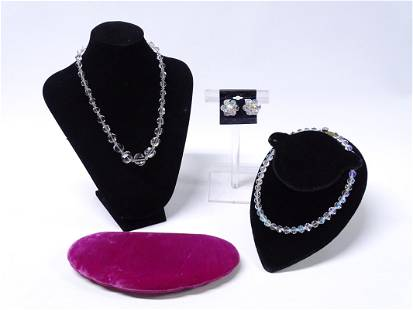 Vintage Crystal Jewelry Set