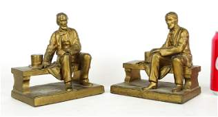 Pair Ronson Lincoln Bookends