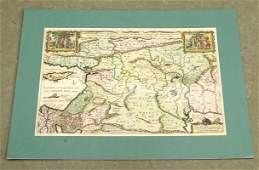 Middle East Antique Dutch Map