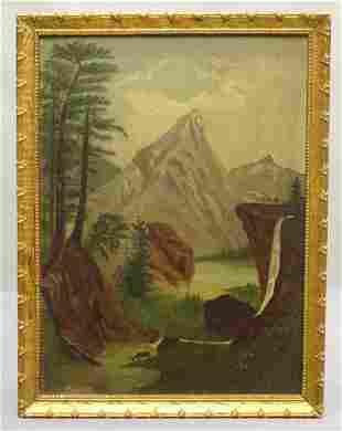 Painting, Adirondack Landscape