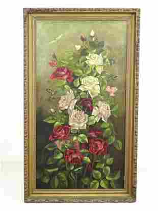Painting, 19th c. Floral Subject