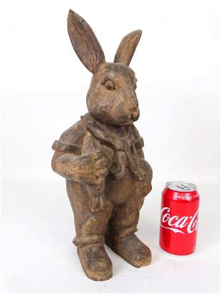 Folk Art Rabbit Carving