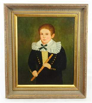 Painting, Portrait of Young Boy