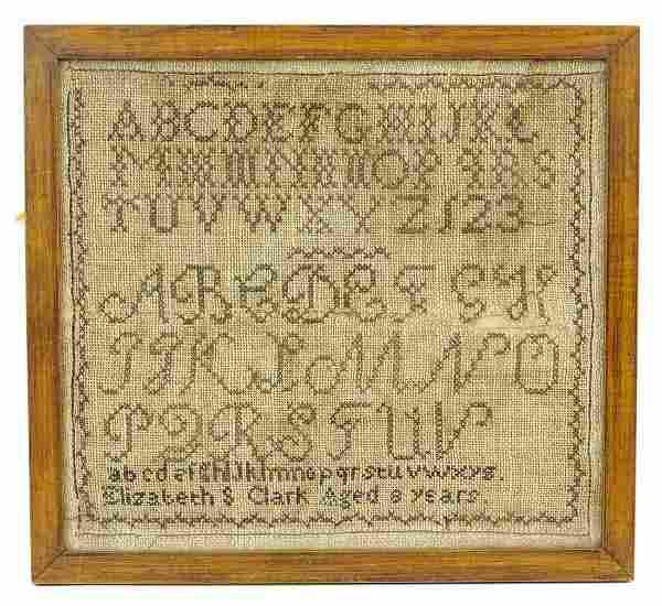 19th c. Sampler