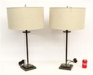 Pair Restoration Hardware Lamps