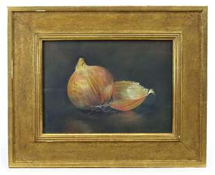 Pastel, Still Life with Onions