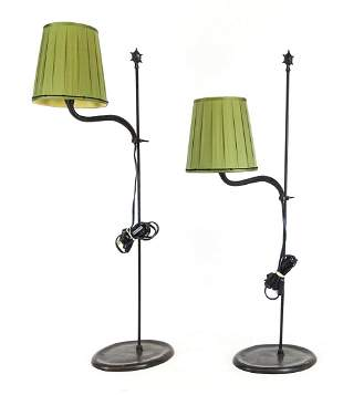 Pair French Lamps