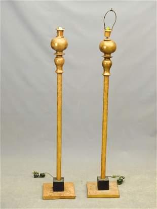 Pair Decorative Floor Lamps
