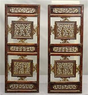 Carved Chinese Panels