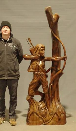 Life Size Wooden Carving
