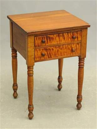 19th c. Two Drawer Work Stand