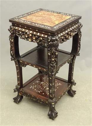 Asian Marble Top Stand