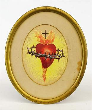 Sacred Heart Antique Painting