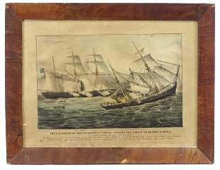 Civil War Naval Battle by Currier