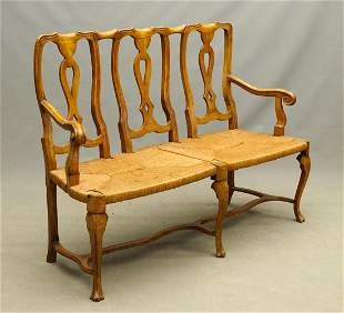 French Triple Back Settee