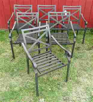 Aluminum Arm Chair Set