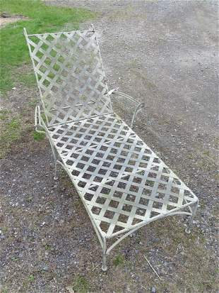 Strap Steel Chaise Lounge