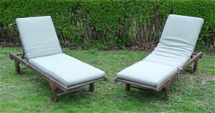 Pair of Teak Lounge Chairs