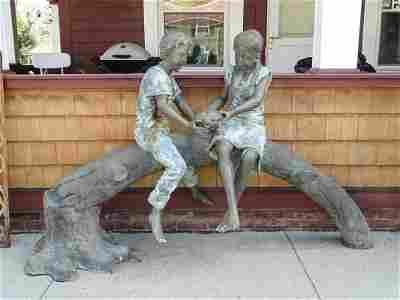 Figural Brass Fountain