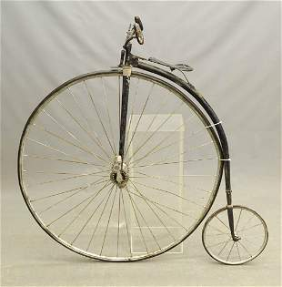 C. 1890's Clipper High Wheel Bicycle