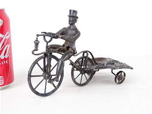 Rare C. 1870 Articulated Silverplate Cigar Caddy