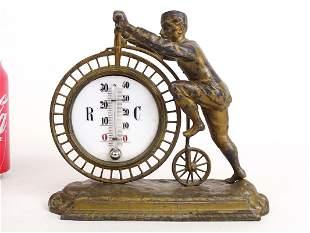 C. 1885 High Wheel Figural Barometer