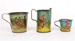 Early Litho Child's Cups