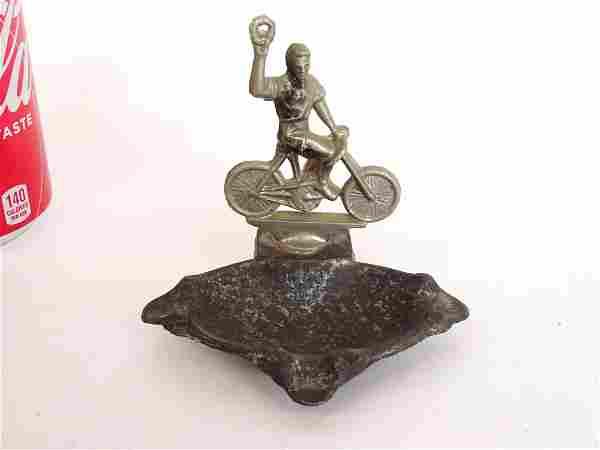 Figural Safety Rider Ashtray