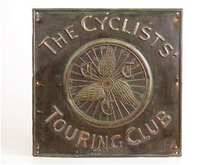The Cyclist's Touring Club Copper Sign