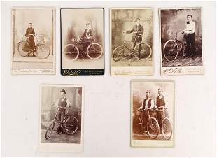Early Bicycle Cabinet Cards with Pneumatics