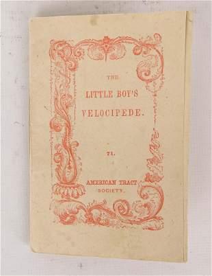 "C. 1848 Booklet ""LITTLE BOY'S VELOCIPEDE"""