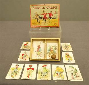 """Early Parker Brothers """"Bicycle Cards"""" Game"""