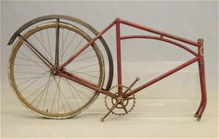 Columbia Pneumatic Safety Frame, Forks, Rear Wheel