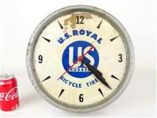 U. S. ROYAL Bicycle Shop Clock