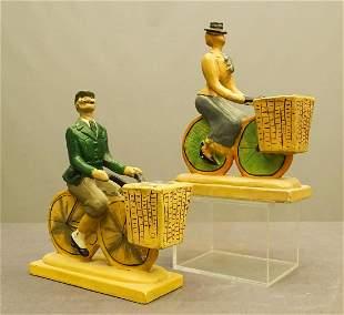 Pair Vintage Plaster Sculptures