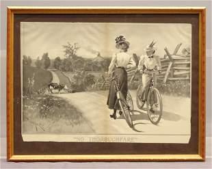 "Framed Print ""NO THOROUGHFARE"""