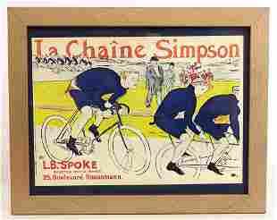 "Bicycle Lithograph ""La Chaine Simpson"""